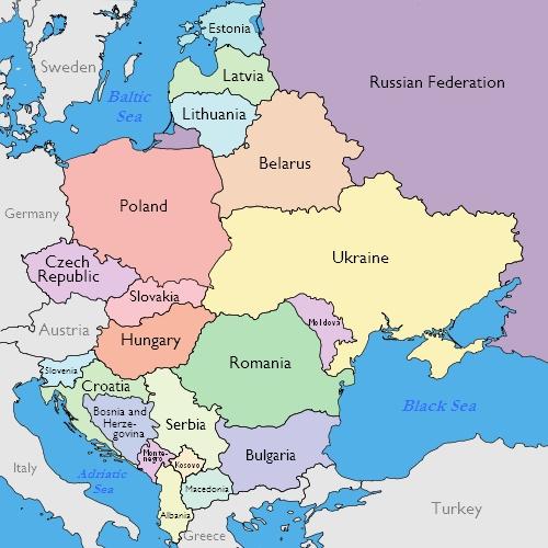 Map Of Eastern Europe 2014.Online Retail In Eastern Europe