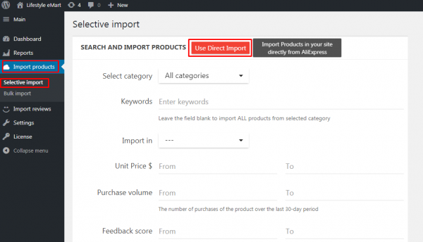 How to use Direct import function | Expert articles on